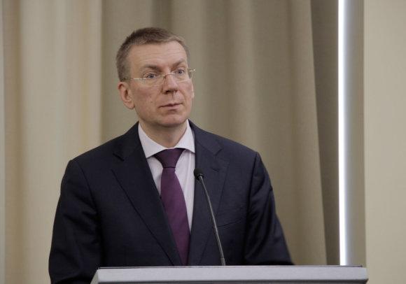 """""""Scanpix""""/""""Xinhua""""/""""Sipa USA"""" nuotr./Latvijos užsienio reikalų ministras Edgaras Rinkevičius"""