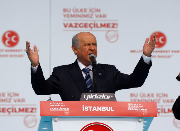 """""""Reuters""""/""""Scanpix"""" nuotr./MHP lyderis Devletas Bahceli"""