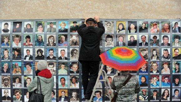 "AFP/""Scanpix"" nuotr./Pagerbiamos ""Nord-Ost"" skerdynių aukos"