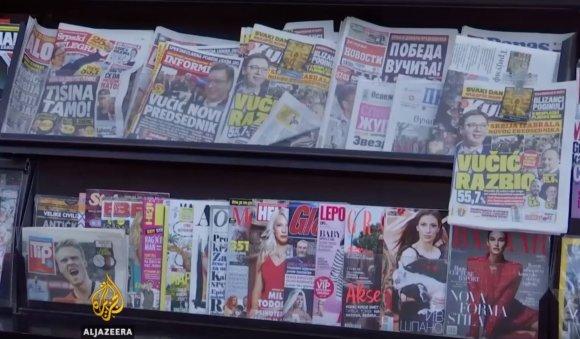 YouTube/Serbijos žiniasklaida – apie Aleksandro Vučičiaus pergalę
