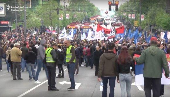 YouTube/Protestas prieš valdančiųjų politiką Belgrade