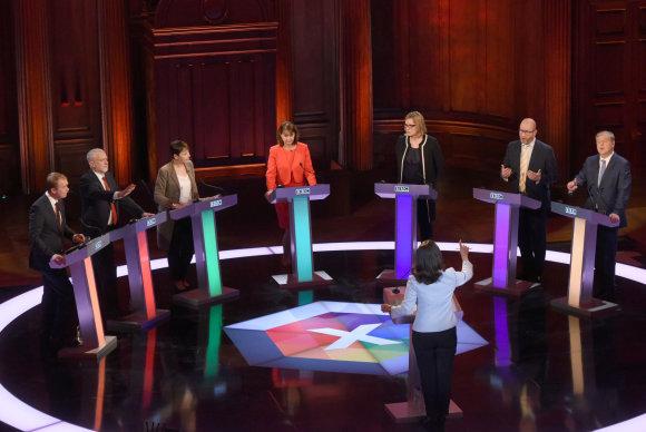 """""""Reuters""""/""""Scanpix"""" nuotr./Debatai prieš rinkimus Jungtinėje Karalystėje"""
