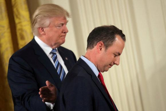 """""""Reuters""""/""""Scanpix"""" nuotr./Donaldas Trumpas ir Reince'as Priebusas"""