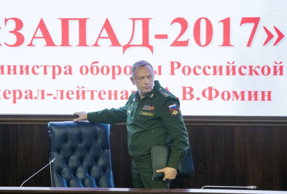 """""""Scanpix""""/AP nuotr./Rusijos gynybos viceministras Aleksandras Fominas"""