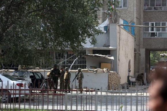 """Scanpix""/AP nuotr./Nuniokotas banko Kabule pastatas"