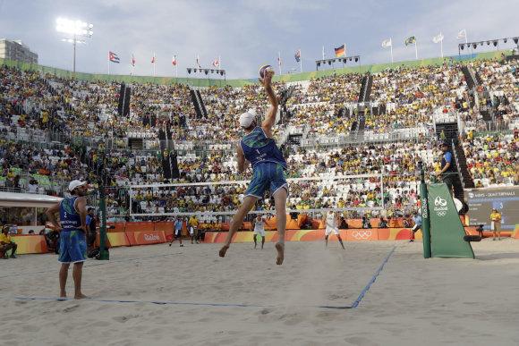 """""""Scanpix""""/AP nuotr./Rio paplūdimio tinklinis"""