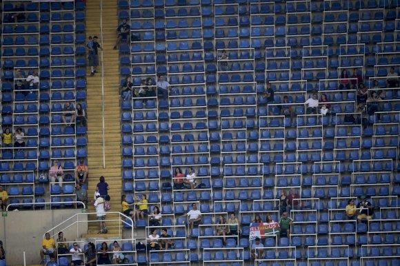 """""""Reuters""""/""""Scanpix"""" nuotr./Tuščios arenos Rio arenose"""
