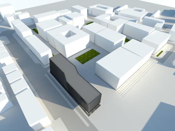 """""""Hanner"""" vizualizacija/Žalgirio stadiono teritorijos planas"""