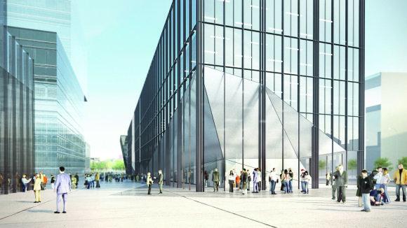 Bendrovės vizualizacija/Žalgirio stadiono vietoje iškils verslo centras
