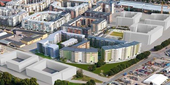 """Bendrovės vizualizacija /Daugiabučių projektas """"Kungsträdgårdarna"""""""