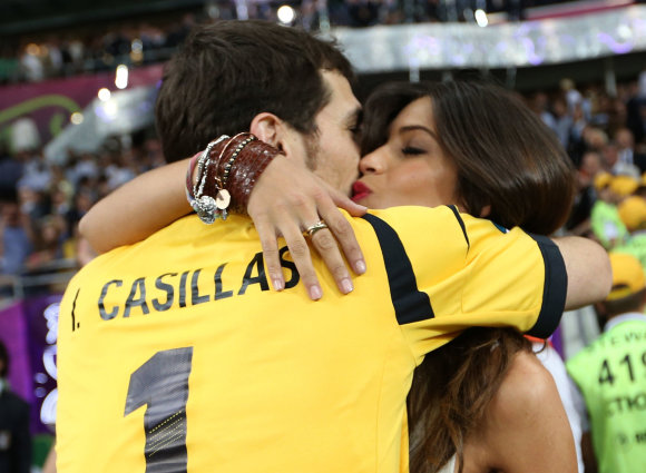 """Scanpix"" nuotr./I.Casillasas ir Sara Carbonero"