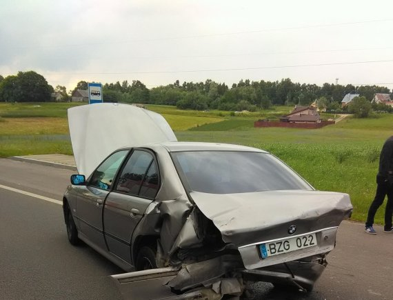 Alytaus apskrities vyriausiojo policijos komisariato nuotr./Avarija kelyje Alytus–Simnas–Kalvarija