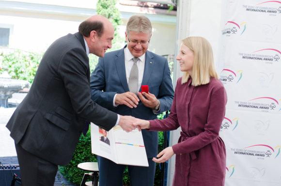 """Projekto partnerio nuotr./Tarptautinių apdovanojimų programos (""""DofE"""") ceremonija"""