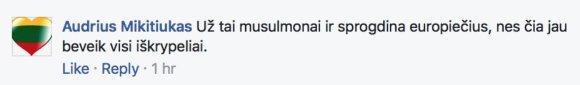 """Eglės Digrytės nuotr./""""Facebook"""" komentaras"""