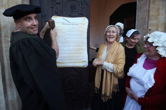 PA Wire nuotr./Pasaulyje minimos Reformacijos 500-osios metinės