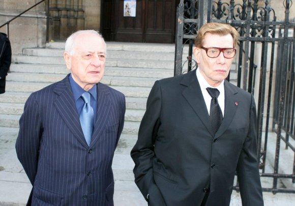 Vida Press nuotr./Pierre'as Bergé ir Yves'as Saint Laurent'as