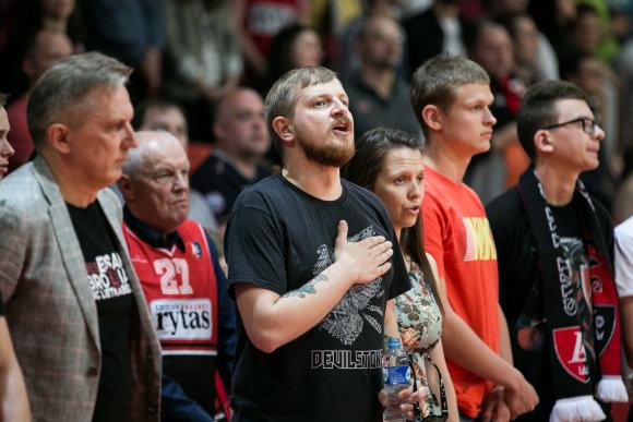 "Žygimanto Gedvilos / 15min nuotr./LKL Pusfinalis: ""Lietuvos rytas"" – ""Lietkabelis"""""