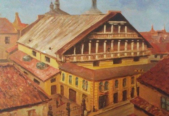 S.Liser. Vilniaus Didžioji sinagogos iš Vilniaus sinagogų žemėlapio
