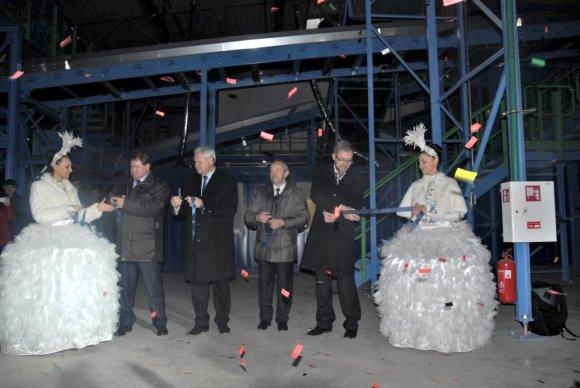 versina.lt nuotr./Klaipėdos atliekų rūšiavimo gamyklos atidarymas