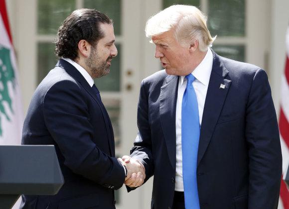 """""""Scanpix""""/AP nuotr./Saadas Hariri ir Donaldas Trumpas"""