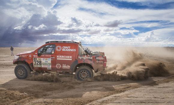 Komandos nuotr./Antano Juknevičiaus bolidas Dakaro ralyje.