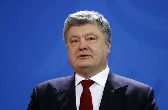 """""""Reuters""""/""""Scanpix"""" nuotr./Petro Porošenka Vokietijoje."""