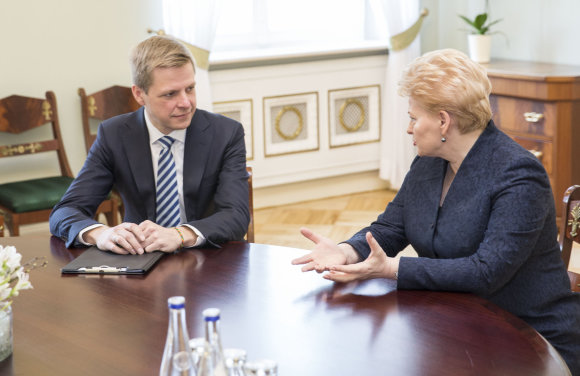 Luko Balandžio/15min.lt nuotr./Remigijus Šimašius ir Dalia Grybauskaitė