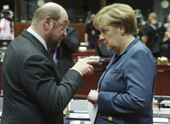 """Scanpix""/AP nuotr./M.Schulzas ir A.Merkel 2013 metais"