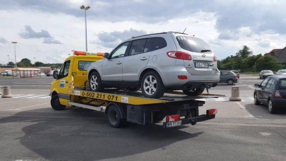 Varšuvoje sugedęs automobilis