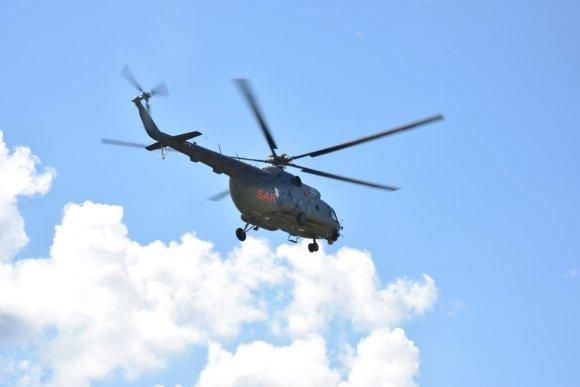 KAM nuotr./Karinių oro pajėgų sraigtasparnis Mi-8