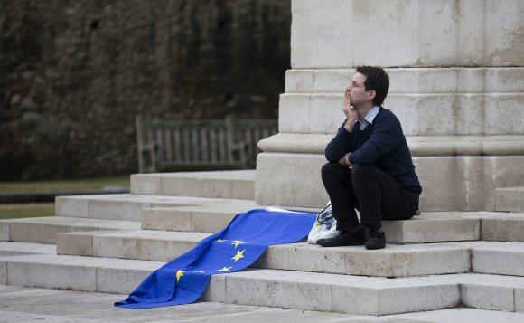 "AFP/""Scanpix"" nuotr./Europos Sąjungos vėliava"