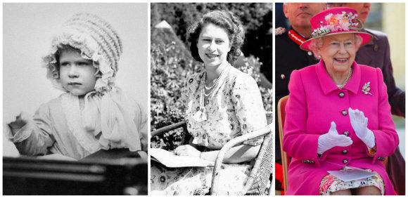 """""""Scanpix"""" nuotr./90-ąjį gimtadienį švenčianti Elizabeth II: nuo kūdikystės iki šiandienos"""