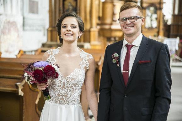 Viganto Ovadnevo/Žmonės.lt nuotr./Meinardo Valkevičiaus ir Elenos Skurdelytės vestuvės