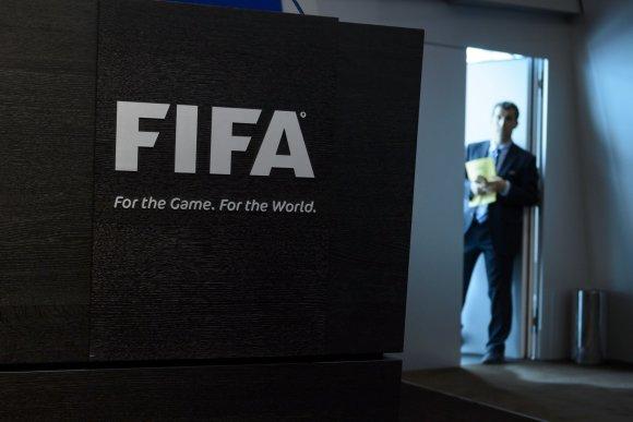 """AFP/""""Scanpix"""" nuotr./FIFA būstinė prieš spaudos konferenciją"""