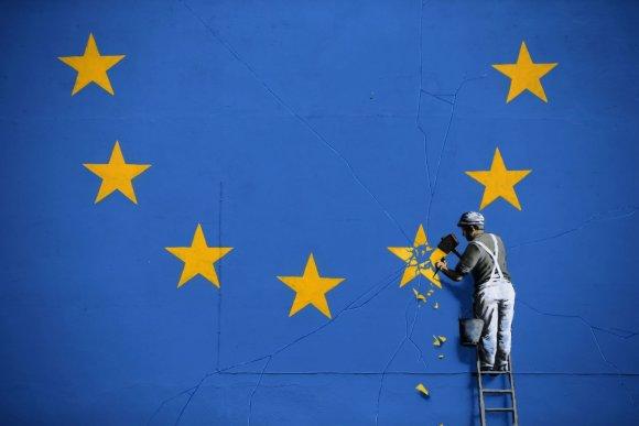 "AFP/""Scanpix"" nuotr./Banksy priešinys"