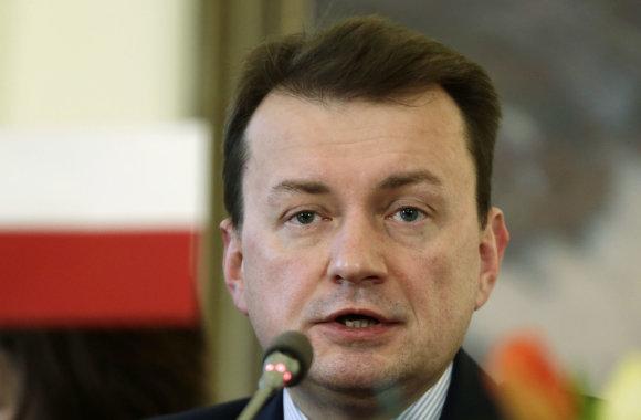 """""""Scanpix""""/AP nuotr./Lenkijos vidaus reikalų ministras Mariuszas Blaszczakas"""