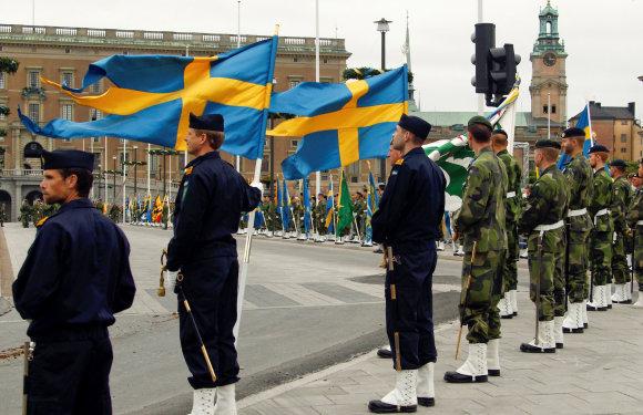 """""""Reuters""""/""""Scanpix"""" nuotr./Švedijos kariai"""