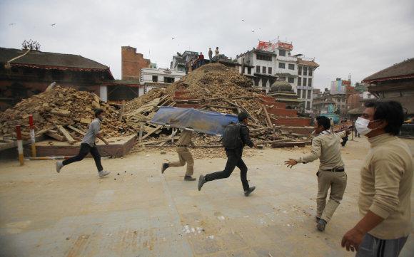 """""""Scanpix""""/AP nuotr./Nepalas po stipraus žemės drebėjimo"""