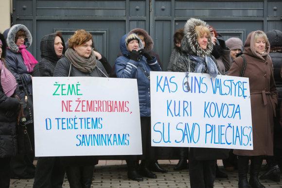 Juliaus Kalinsko / 15min nuotr./Lenkų piketas Vilniuje