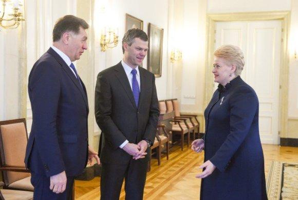 Prezidentūros/R. Dačkaus nuotr./Dalia Grybauskaitė Valstybės saugumo departamento vadovu siūlo Darių Jauniškį.
