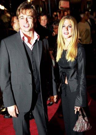 """""""Scanpix""""/""""SIPA"""" nuotr./Jennifer Aniston ir Bradas Pittas"""