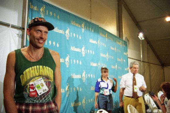 Alfredo Pliadžio nuotr./Rimas Kurtinaitis 1996 m. žaidynėse Atlantoje