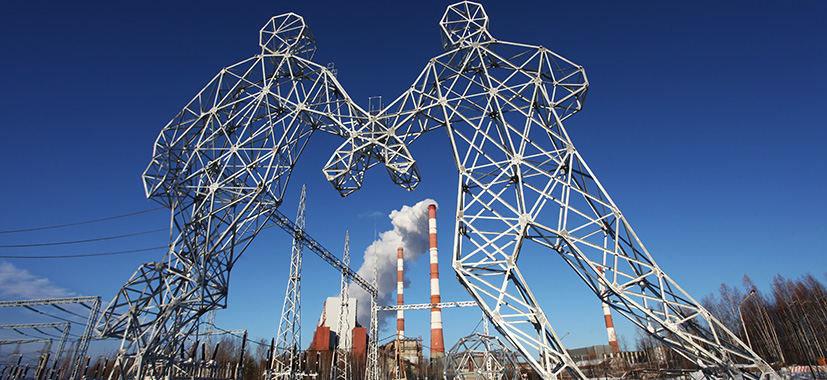 Elektros perdavimo bokštai Dobriankoje