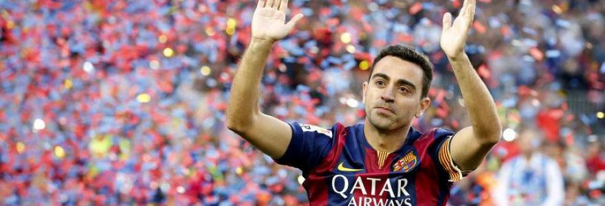"""Barcelona"" simbolis Xavi baigia futbolininko karjerą – taps treneriu"