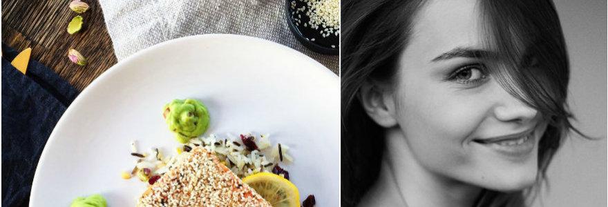 Julijos receptas: lašiša su sezamais ir klevų sirupu