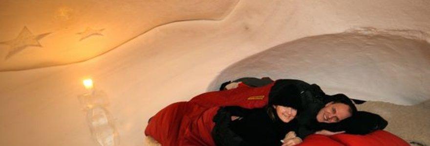 Ledinė eskimų trobelė Šveicarijoje
