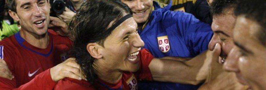Vokiečiai, danai, serbai ir italai žais pasaulio futbolo čempionate