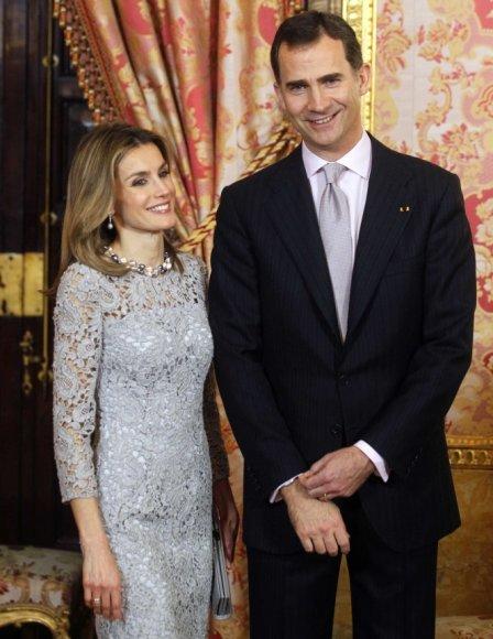 Princas Felipe ir princesė Letizia