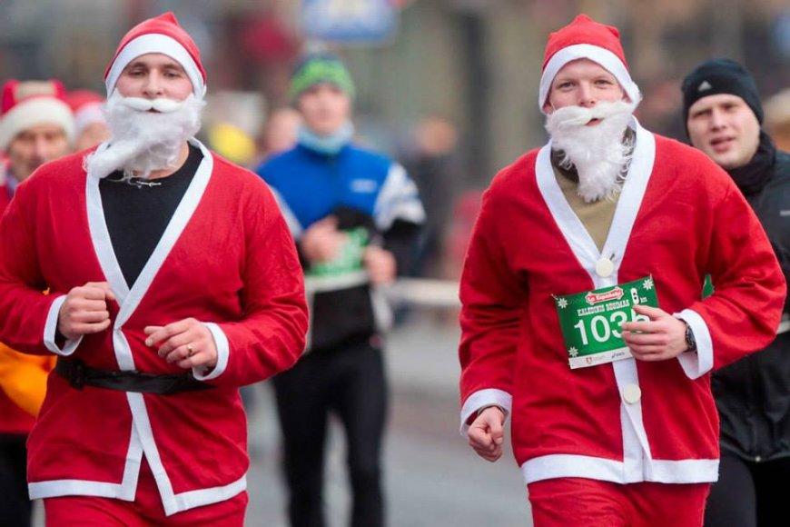 Kalėdinio bėgimo akimirka