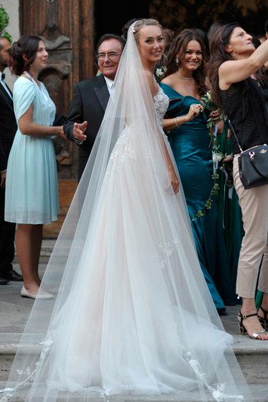 Vida Press nuotr./Cristel Carrisi ir Davoro Lukšičiaus vestuvės